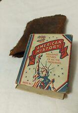 Vintage 1940 vest pocket American History US Presidents Bread Card