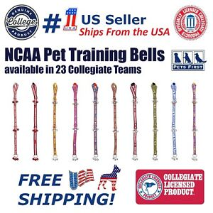 NCAA Door Training Bells for Pets, 40+ College teams Licensed Home Entry Decor!