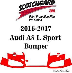 3M Scotchgard Paint Protection Film Pro Series Clear 2016 2017 Audi A8 L Sport