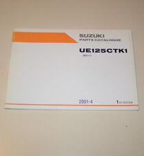 Teilekatalog / Parts Catalogue Suzuki UE 125 CT K1 - Stand 2001!
