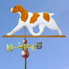 Brittany Spaniel Hand Carved Hand Painted Basswood Dog Weathervane Orange