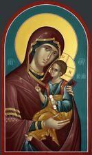 Theotokos Handpainted Eastern Orthodox Byzantine icon 22k