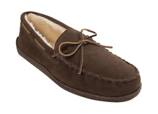 Men's Minnetonka Pile Lined Hardsole Chocolate Suede