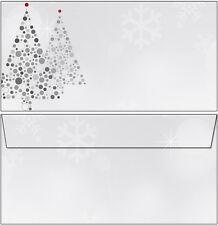20 Briefumschläge Motiv Christbaum grau rot DL oF Weihnachten Sterne Kuverts