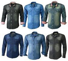 Jeanshemd Jeans Hemd Herren Jeans Hemd Denim Regular Freizeit 6 Farben JEHEMD