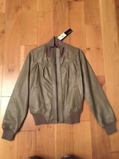 NEW LEATHER BIKER JACKET COAT SIZE 10 PRIMARK