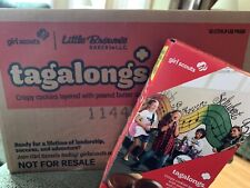 CASE of 2021 GIRL SCOUT Tagalongs COOKIES - 12 BOXES * Free Shipping *