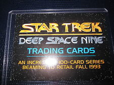 STAR TREK DEEP SPACE NINE PROMO CARD 1993 MINT NEUF