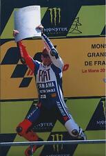 Jorge Lorenzo SIGNED MotoGP French Le Mans YAMAHA 12x8 Photo AFTAL COA Genuine
