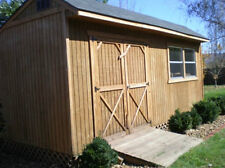 10X20 SALTBOX WOOD STORAGE SHED, 26 GARDEN SHED PLANS, UNIQUE WORKSHOP CD