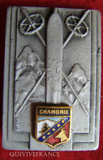 SK983 - INSIGNE SKI Centre de Formation S.E.S. CHAMONIX, aluminium peint