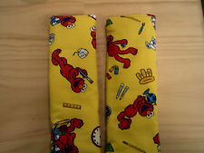 2 x personalized with your childs name reversible elmo seat belt covers