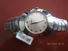 Rado Ovation Women's Ceramic Quartz Watch-Silver Metallic Dial-Silver Tone Hands