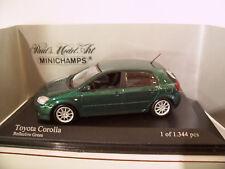 TOYOTA COROLLA 5 PORTES vert métal 1/43 Minichamps 2001 400166170