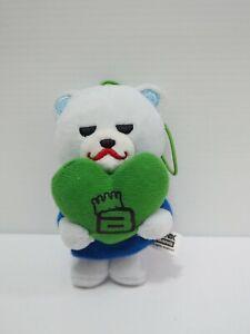 "Krunk Bear Bigbang Mascot Strap Furyu 4"" Plush Stuffed Toy Doll Japan"