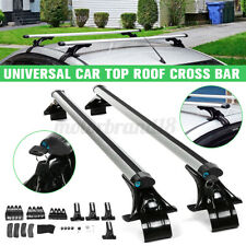 Universal 125cm Car Top Roof Rack Cross Bar Luggage Carrier Rack 3 Kinds Clamp