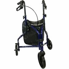 Lightweight Tri-Walker 3 Wheel Folding Rollator Mobility Walking Aid Frame - B