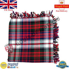 Écossais Robe Macdonad Purled Frange Kilt Mouche Plaid pour Traditionnel