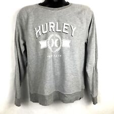 Hurley men's gray lightweight sweatshirt size M, spell out logo pullover