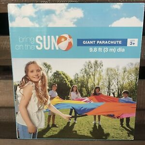 New GIANT Kids PARACHUTE 9.8 Feet (3m) 7 Handles-Activity Guide Included G1.9-11