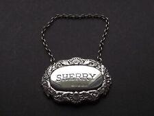 Silver Sherry Decanter Label Birmingham 1974