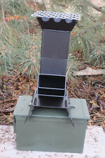 Shadrach V2 Portable Rocket Stove and New 50 cal. Ammo can New Design