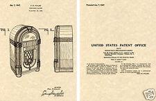 Wurlitzer 1015 Juke-Box 1947 Nous Verni Estampe Prêt à Cadre Paul Plus Pulpeux
