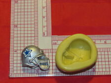NFL Football Dallas Cowboys Helmet Silicone Push Mold 404 Chocolate Candy Cake