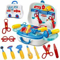 Medical Doctor Set Role Play Playset Carry Case for Kids Boys Girls Toy 14pc