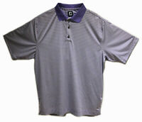 FOOTJOY FJ MEN'S PURPLE STRIPED Poly Spandex Golf Polo Shirt sz XL