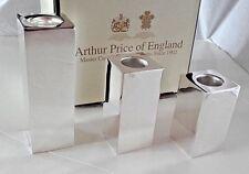Arthur Price Silver Plated Candlesticks.set of 3, (7cm, 8cm, 11.5cm). NQP