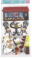 Coffee Talk Cafe Cup of Joe Laptop Latte Expresso Java RARE Jolee's 3D Stickers
