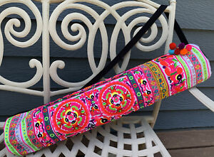 Yoga Mat Backpack Sports Travel Duffel Bag Boho Multicolor Indian Embroidered