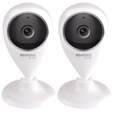 Two Vivitar IPC-112 Wi-Fi Security Surveillance Capture Cameras