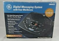 GE 29869GE2-A Time/Day Stamp Digital Messaging Answering System 4 Mailboxes