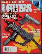 Magazine *GUNS* March, 1994 RUGER Model MP9 SUBMACHINE GUN and Model P94 PISTOL