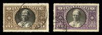 Vatican City 1933 2L and 2.75L POPE PIUS XI USED #30-31 CV$127.50