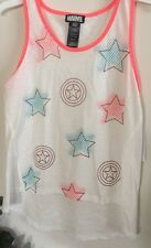 Marvel, Captain America 75th Anniversary Girls Sleeveless Top Size X-Large(16)