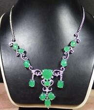 Bead Beads Necklace Diamond (Imitation) 283785 Gold Plate Icy Green Jade Heart