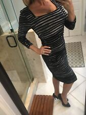 White House Black Market Dress WHBM S Sweater Black and White Striped