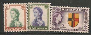 Sarawak Scott   209  -  211  Mint Hinged
