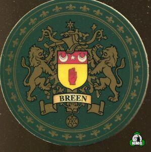 English Heraldic Coaster: Breen