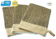 3 Pack Exfoliating Linen Gloves Mitten Remove Dead Skin Bath Body Scrub.