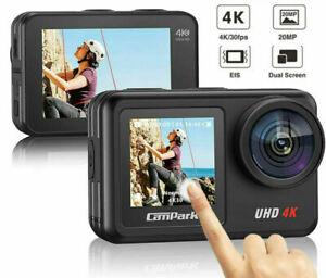 Campark V40 Action Camera Dual Touch Screen 4K WiFi EIS Sport Cam Remote Control