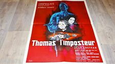 georges franju THOMAS L'IMPOSTEUR ! jean cocteau affiche cinema mascii 1964