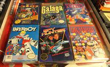 Lot of 6 Classic NES CIB Nintendo Games Tetris Dr Mario Galaga Spy  FREE SHIP NR