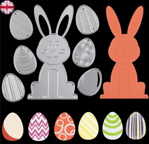 Egg Die Cuts and Rabbit Metal Cutting Dies Stencil Scrapbooking Embossing Album