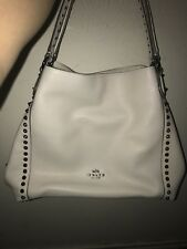 Coach spiked white bag
