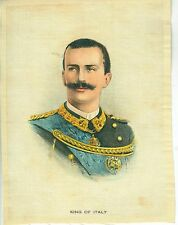 Cigar or Cigarette Advertising Silk King of Italy 4 3/4 x 6 1/2 inches