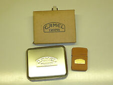 "CAMEL ""TROPHY"" ZIPPO LIGHTER - FULL LEATHER WRAPPED - NEVER STRUCK - 1995 - RARE"